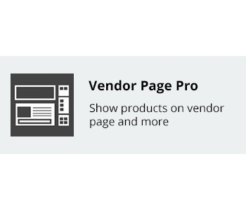 Vendor Page Pro - Show products on vendor page and more