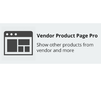 Vendor Product Page Pro